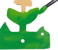 Peindre les feuilles