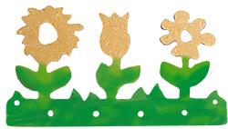 Peindre les feuilles du porte-clés