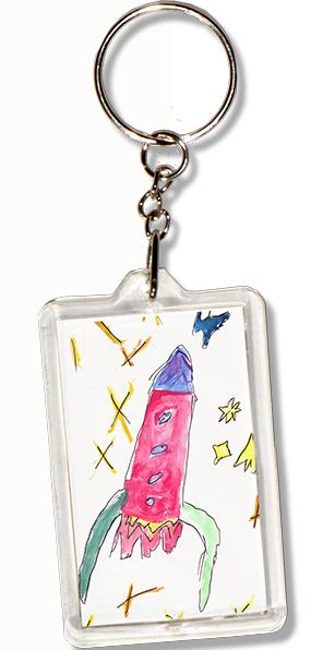 Porte-clés personnalisé avec un dessin d'enfant