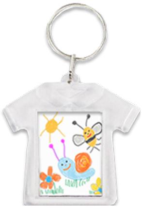 Porte-clés en forme de T-shirt