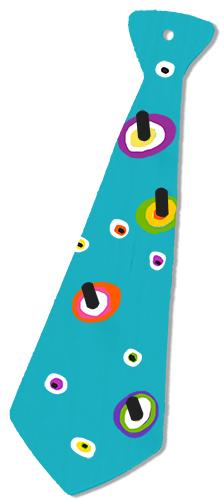 Porte-cravate Yeux de Paon