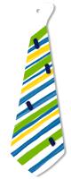 Peindre des rayures bayadères sur le porte-cravate
