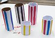 Rouleaux peints comme les colonnes de Buren
