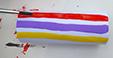 Peindre des rayures de couleurs
