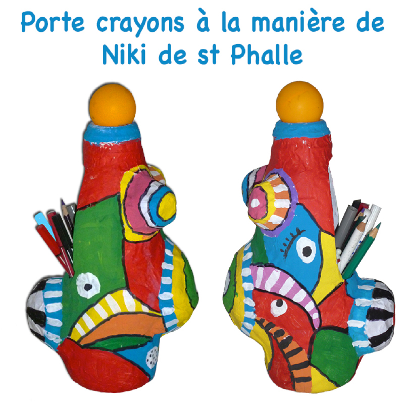 porte crayons inspir par niki de saint phalle sur t te modeler. Black Bedroom Furniture Sets. Home Design Ideas