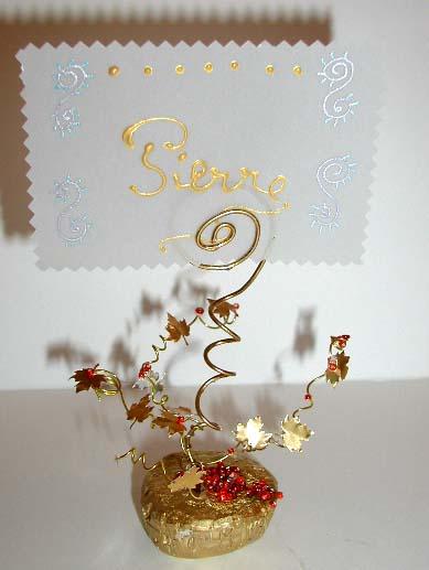 Fabriquer un porte-nom de Noël doré