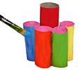 Peindre les rouleaux de différentes couleurs