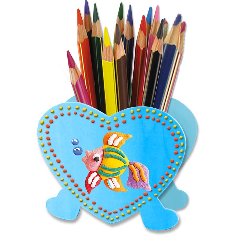Pot à crayons et peinture gonflante