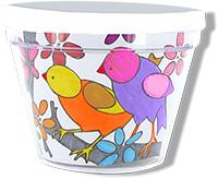le pot est décoré