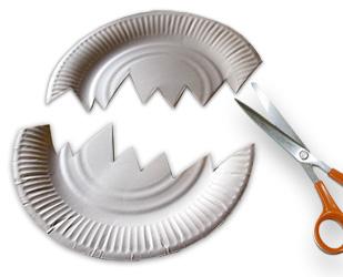 Couper l'assiette comme un oeuf cassé