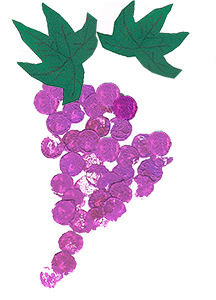 Coller les feuilles de vigne