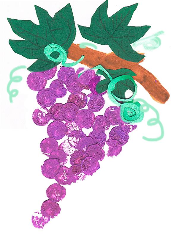 Peindre des raisins d 39 automne t te modeler - Activite avec des marrons ...