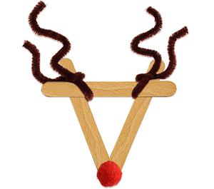 Former les bois du renne de Noël