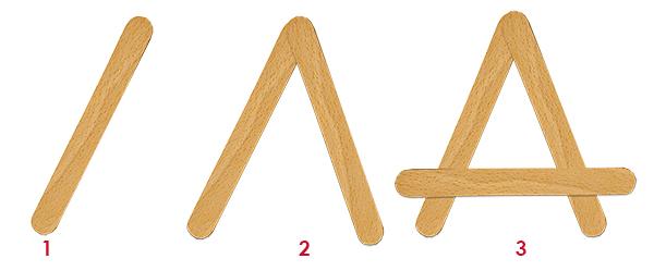 Former la tête de renne en triangle
