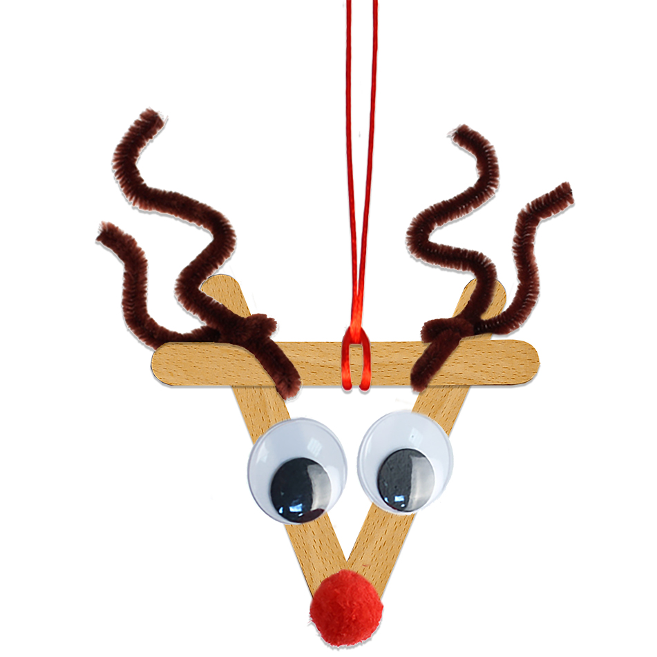Renne de Noël en bâtons esquimaux