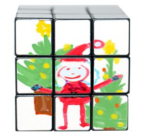 Faire un dessin complet sur l'ensemble des faces du cube