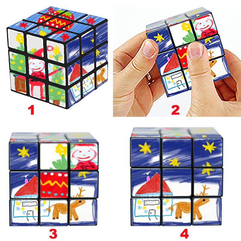 Rubik cube, casse tête de Noël