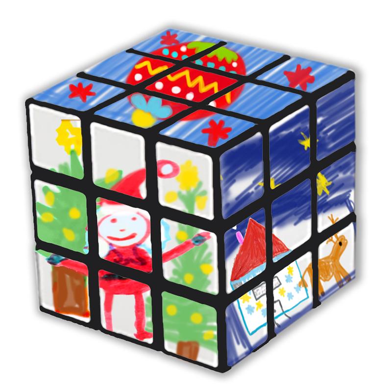 Rubik cube pour Noël