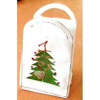 Mini-sac à cadeaux de Noël à fabriquer
