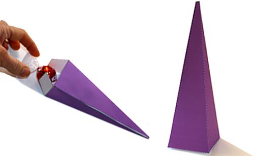 Pochette pyramide à friandises