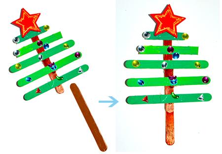 Ajouter un bâton sous le tronc