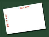 feuille 29,7 x 42 cm