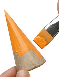 Peindre un cône en orange