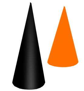 Poser le grand cône sur la table