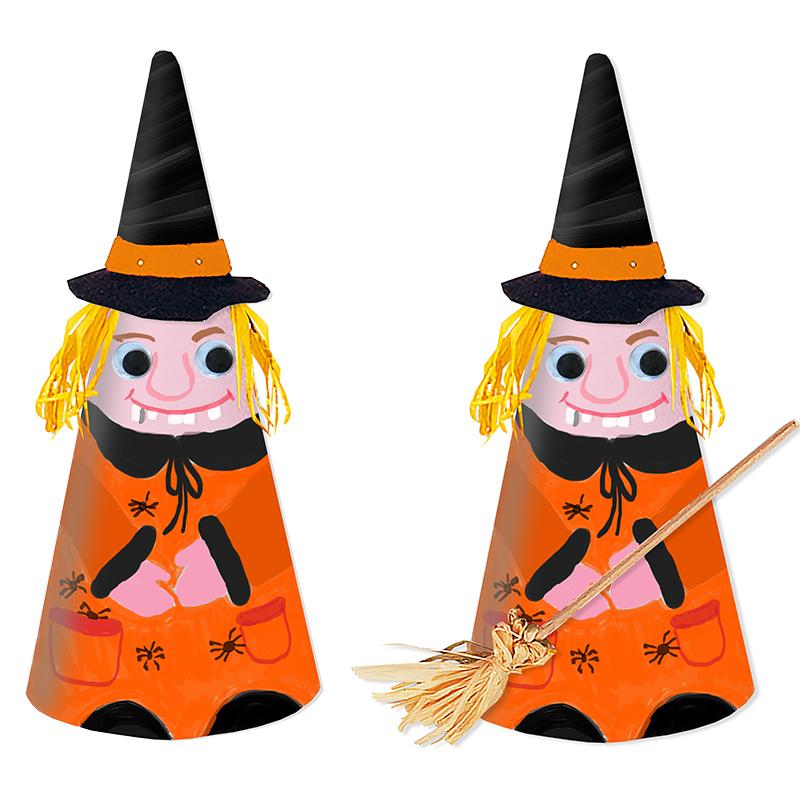 Sorcière d'Halloween en cône