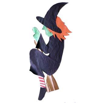 Sorcière géante d'Halloween