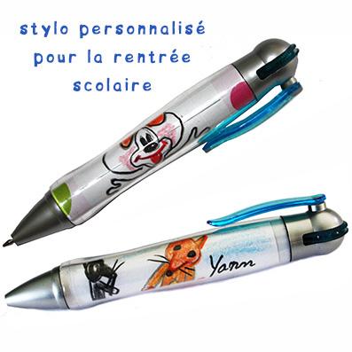 Varier le décor du stylo personnalisé de rentrée scolaire