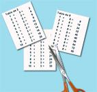 Découper les tables de multiplication