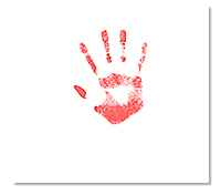 Laisser l'empreinte de main