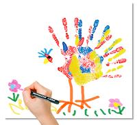 Ajouter les détails au tableau empreint de main