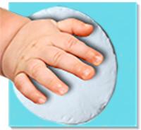 Prendre l'empreinte de la main ou du pied