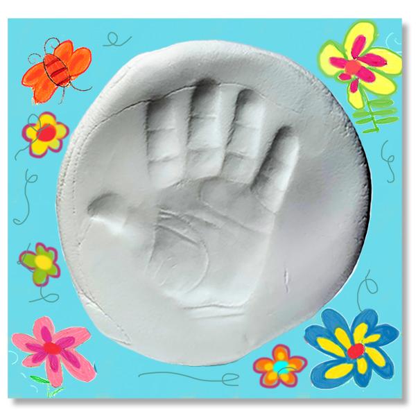 Tableau empreinte main pied d'enfant