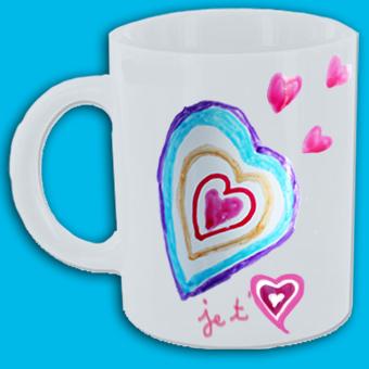 Tasse je t'aime coeur