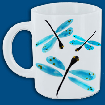Mug aux lilbellules bleues