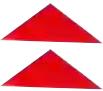 Couper deux gommettes triangulaires