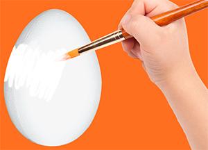 Peindre l'oeuf en blanc