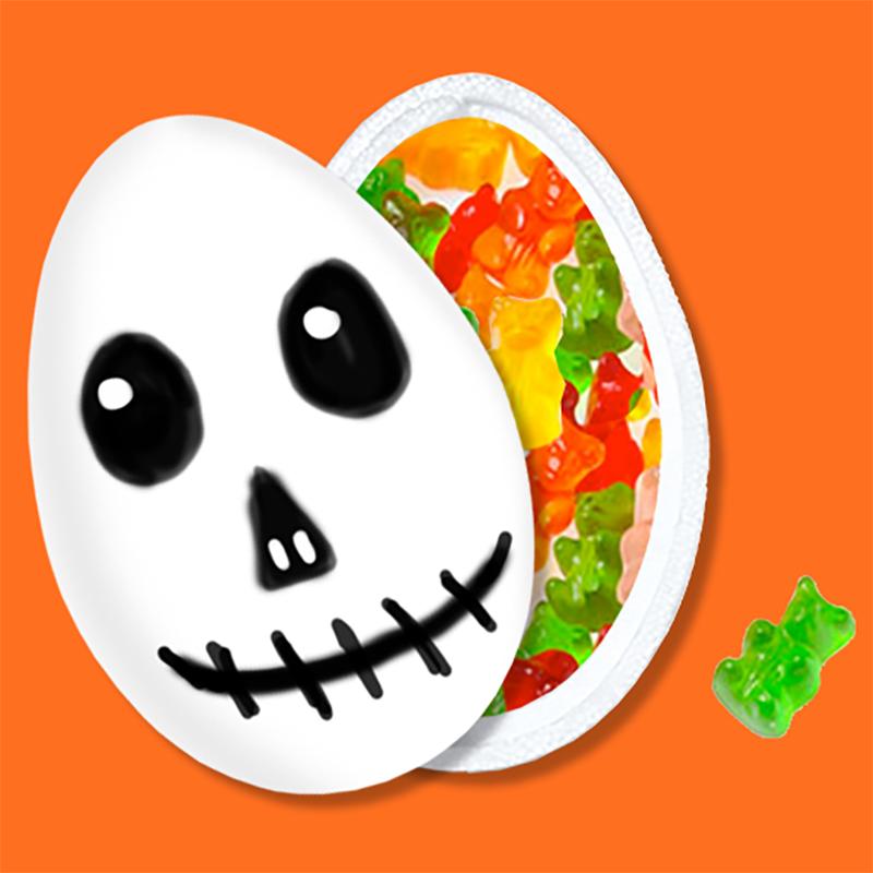 Boite à bonbons tête de fantôme