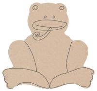 Dessiner le corps de la grenouille