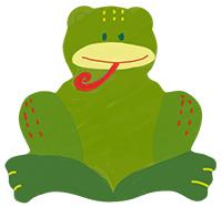 Peindre la tête de la grenouille