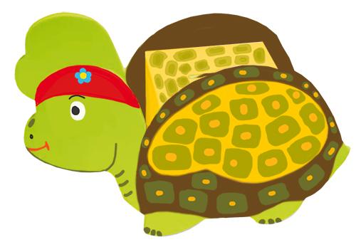 Terminer les détail de la tête de la tirelire tortue