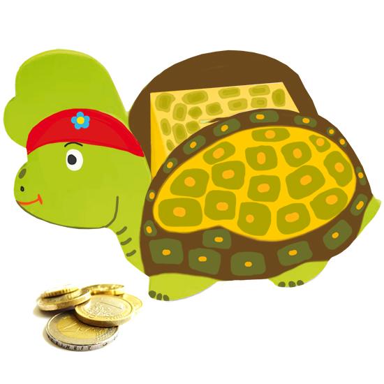 Tirelire tortue peinte