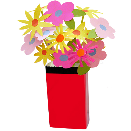 Vase emballage rouge et noir t te modeler - Dessiner un vase ...