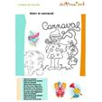 Chanson Voici le Carnaval à colorier