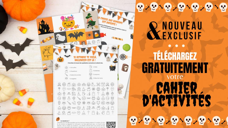 Retrouvez un carnet de 20 pages d'activités gratuites pour apprendre en s'amusant sur le thème d'Halloween