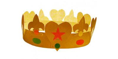 Fabriquer une couronne des rois simple avec les enfants pour fêter l'épiphanie et la fête des rois autour d'une bonne galette.