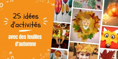 25 idées d'activités avec des feuilles d'automne | Tête à modeler
